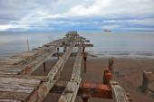 Old pier in Strait of Magellan. — Stock fotografie