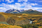 Paine river bends in horseshoe — Stock Photo