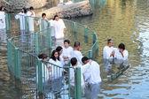 Pilgrims ritual baptism — Zdjęcie stockowe