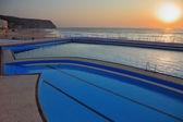 Pool on beach of Atlantic coast — Stock Photo