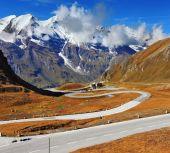 Road in Austrian Alps — Stock Photo