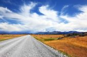 Road and clouds — Stock Photo
