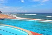 Pool on beach Atlantic coast — Stock Photo