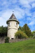 Ancient round tower  — Foto de Stock