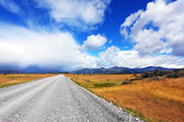 Dirt road in the endless pampas — Stock Photo
