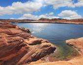 Lake Powell  by Fisheye lens — Stock Photo