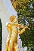 Statue of Johann Strauss, playing the violin — Foto Stock