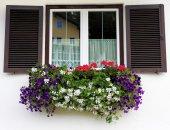 Pitoresca janela — Fotografia Stock