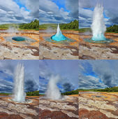 Geyser Strokkur in Iceland — Stock Photo