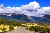 Road in the mountains of Patagonia — Stock Photo