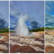 The eruption of the geyser Strokkur — Stockfoto #57977843