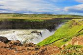 Enormous waterfall Gyullfoss — Photo