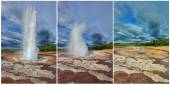 The eruption of the geyser Strokkur — Stock Photo