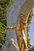 Sculptural portrait of Johann Strauss — Stock Photo