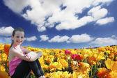Beautiful six year old girl — Stock Photo