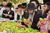 Market before the holiday of Sukkot — Stock Photo