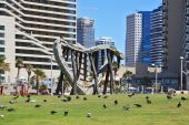 The Tel Aviv promenade — Stock Photo