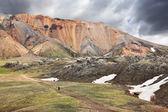 Famous Valley Landmannalaugar in Iceland — Stock Photo