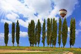 Giant colorful balloon flying — Fotografia Stock