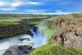 Enormous waterfall Gyullfoss — Stock Photo