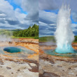 Different phases of the action of the geyser — Stock Photo #67152085