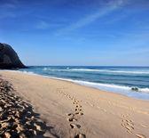 Huge sandy beach  — Stock Photo
