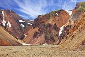 Mountains in Icelandic reserve Landmannalaugar — Stock Photo