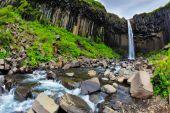 Magnificent waterfall Svartifoss — Stock Photo