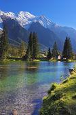 Snowy Alps in Chamonix, Provence — Stock Photo