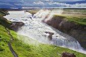 Iceland. Grand Gullfoss — Stock Photo