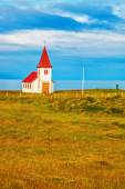 Chapel with red roof — Stock Photo