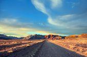 Gravel road between boundless Pampas — Стоковое фото