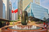 The abstract sculpture in Hong Kong — Stock Photo