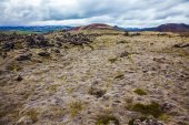 Lava fields in the island — Stock Photo
