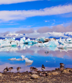 Glacial Lagoon in Iceland — Stock Photo