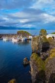 White fishing boats in Arnarstapi — Stock Photo