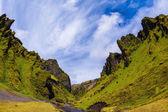 Canyon Kargil  with  fantastic rocks — Stock Photo