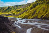 Canyon Pakgil in Iceland — Stock Photo