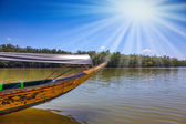Spring trip to native boat Longtail — Stock Photo