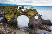 Picturesque cliffs Arnastapi — Stock Photo