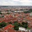 Historical center of Prague (View from the tower of Saint Vitus Cathedral). — Stock Video #52519139