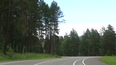 New roads Altai Krai. Russia. — Stock Video