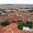Historical center of Prague (View from the tower of Saint Vitus Cathedral). — Stock Video #52657677
