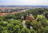 Church of St Lawrence. View from Petrin Lookout Tower. — Stock Photo