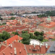 Historical center of Prague (View from the tower of Saint Vitus Cathedral). — Stock Video #54431753