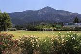 Football field at Porto Carras Grand Resort. Sithonia. — Stock Photo