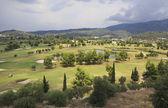 Beautiful golf course of Porto Carras. Sithonia. — Stock Photo