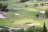 Beautiful golf course of Porto Carras Grand Resort. Sithonia. — Stock Photo