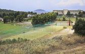 Tennis courts at the Porto Carras Grand Resort. Sithonia. — Stok fotoğraf