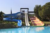 Water slides at Porto Carras Sithonia. — Stock Photo